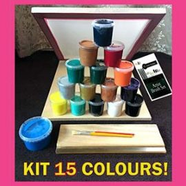 Screen Printing Kit . Create and craft 15 colour A3