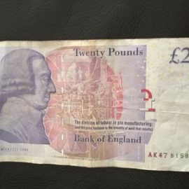 £20 note AK47 Serial numbers very rare