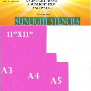Sunlight Stencil 43T size A3. Red PACK OF 10