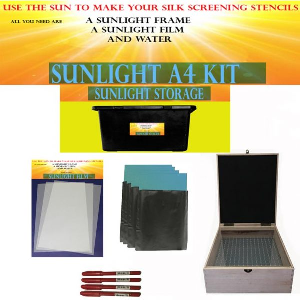 Sunlight stencil Kit A5 77t screen printing supplies uk
