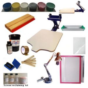 Screen Printing Kit 1 Colour A2 XLarge Water based Kit
