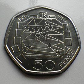 EEC 50P 1992 1993 more valuable than  Kew