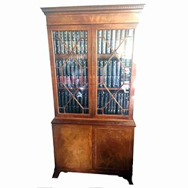 Antique Library Bookcase Edwardian 1933