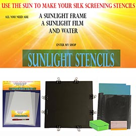 Sunlight stencil basic kit. Screen Printing Supplies uk
