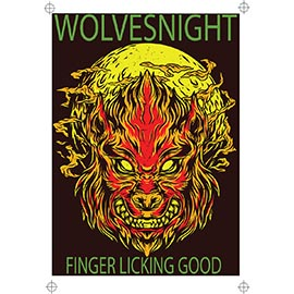 Wolves Night 4 colour design, ready to print on film