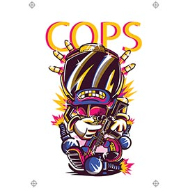 Cops 4 colour design