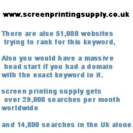screenprintingsupply.co.uk Domain for sale.