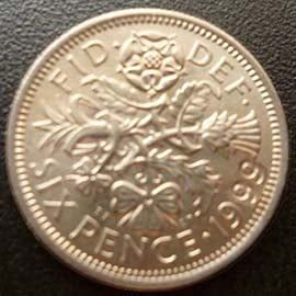 Sixpence 1966 world cup Very Rare 1999